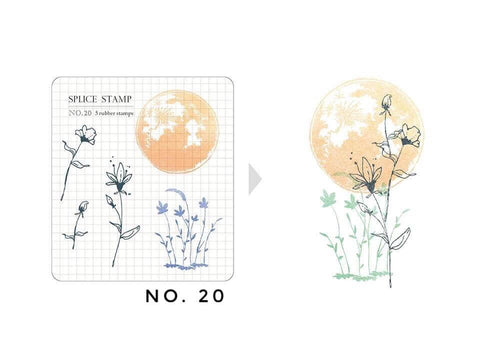 MU Botanical Clear Stamp Set - No. 20
