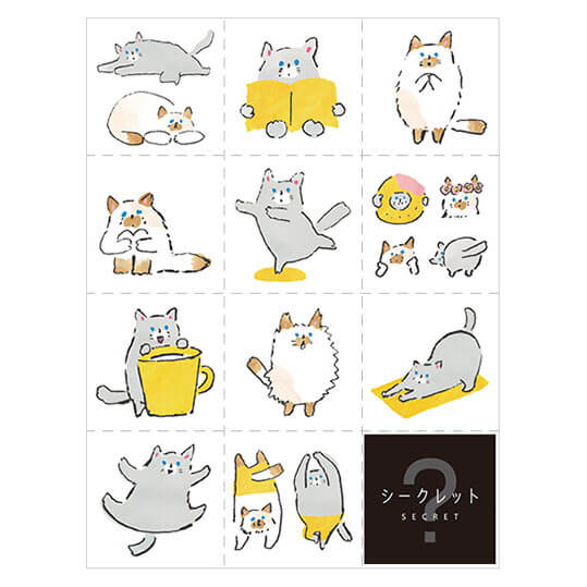 Hitotoki Large Size Sticker - Cat