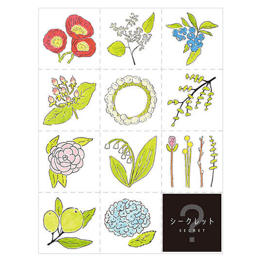 Hitotoki Large Size Sticker - Flower