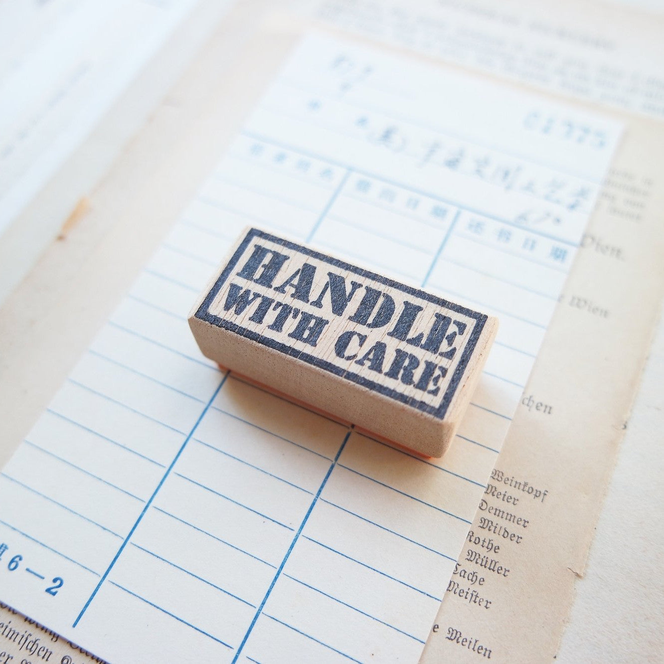 Handle With Care Rubber Stamps