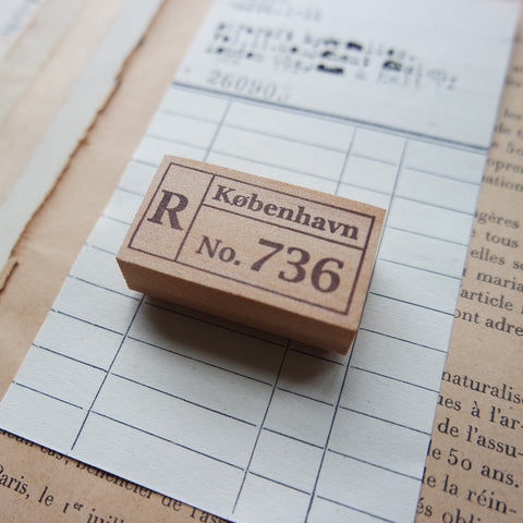 Registered Mail Label Rubber Stamp