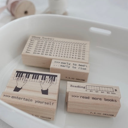 P.E.HO Original Rubber Stamp Set - Vol.1 Ring