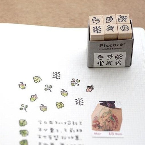 PICCOLO Miniature Rubber Stamp Set