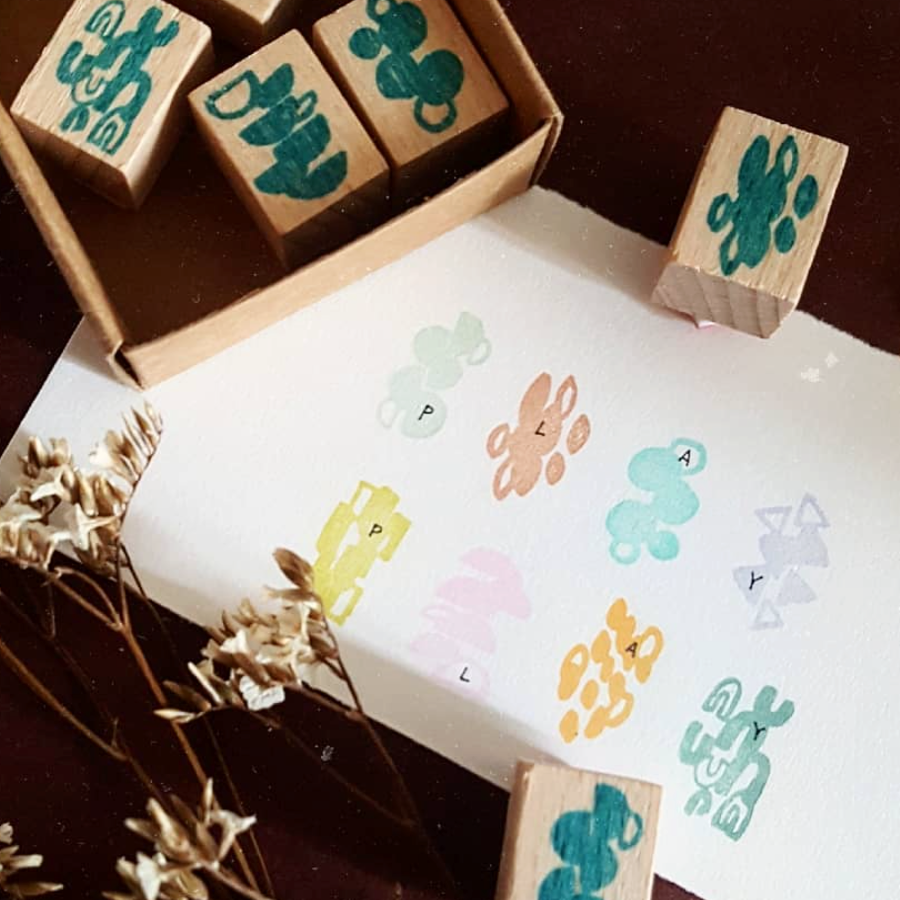 Kurukynki Irregular Shapes Rubber Stamp Set