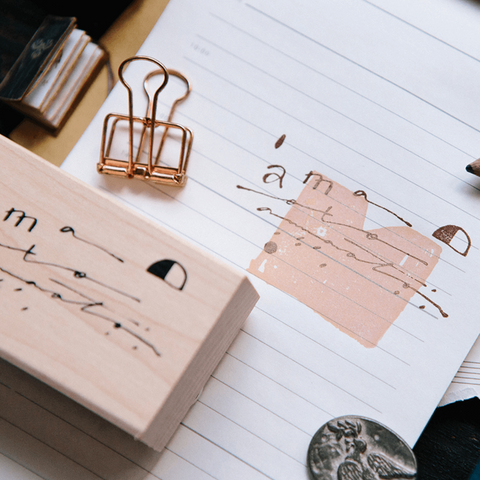 OURS Rubber Stamp Set: Daily Cursive Set A