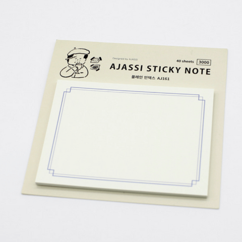 Ajassi Sticky Note - Plain Index