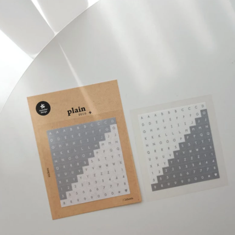 Suatelier Stickers - Geometric Plain XI (Alphabet & Number)