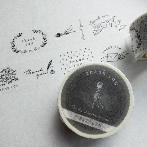 Oeda Letterpress Washi Tape - Thank You
