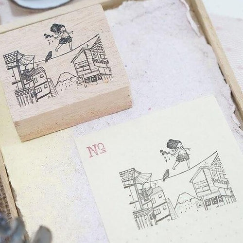 Black Milk Project Rubber Stamp - Tightrope in Japan