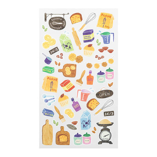 MD Washi Sticker Marché - Tools for Baking