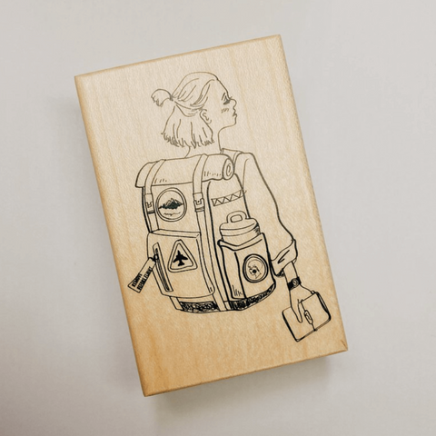 LDV Rubber Stamp: Space Girl