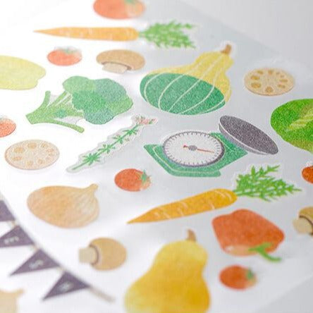 MD Washi Sticker Marché - Vegetable