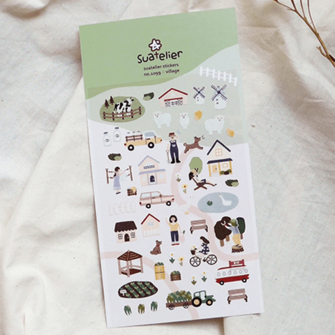 Suatelier Stickers -  Village