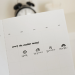 Suatelier Mini Sticker - Deco.05 (weather icons)