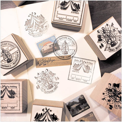 LCN Camping Rubber Stamps