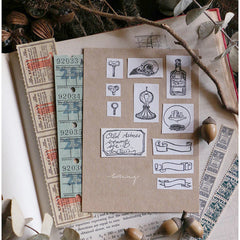 LCN Collage Rubber Stamps Set