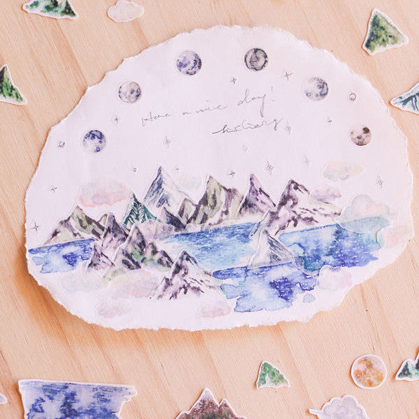 [Discontinued Item] LCN Make a Wish (Mountains) Washi Tape
