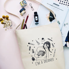Stationery Dreamer Canvas Bag