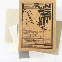 [Discontinued] amnesiac Original Rubber Stamp Set - ZINE