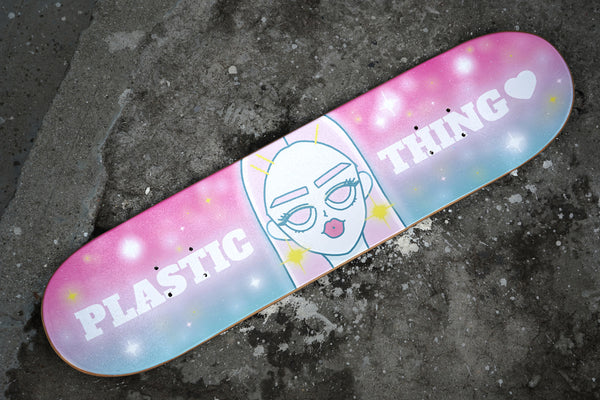 Plastic Thing Skate board - Skating in the galaxy (skate deck only)