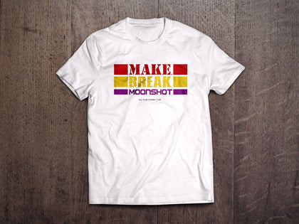 Make. Break. Moonshot Kids T-Shirt (White)