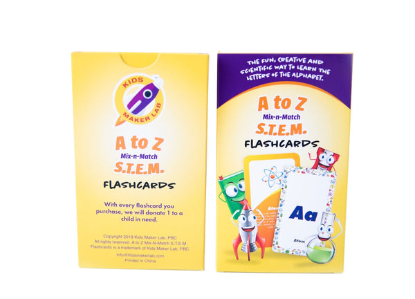 A to Z S.T.E.M Learning Flash Cards (Science, Technology, Engineering, and Math)