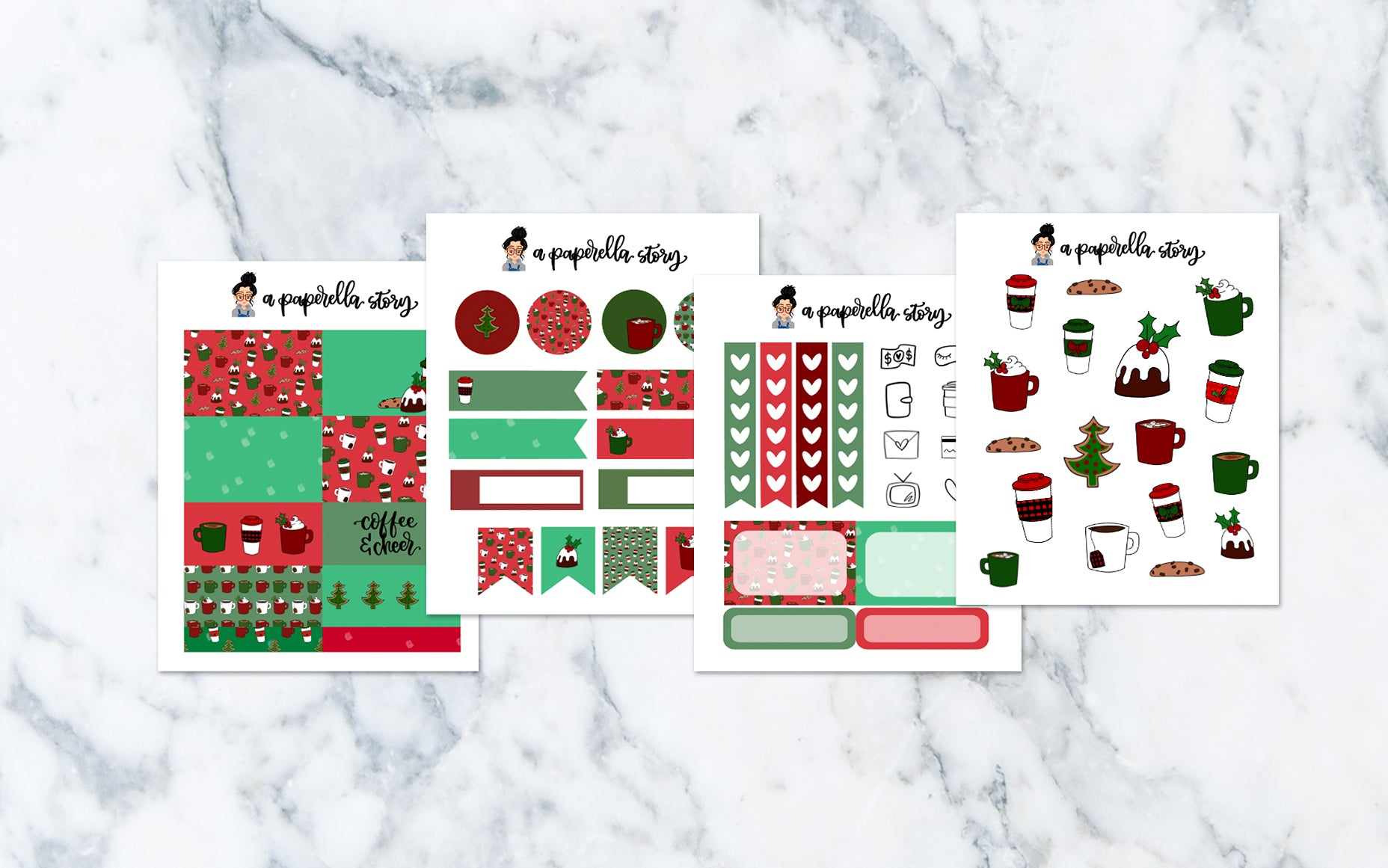 Coffee & Christmas Petite Sticker Kit