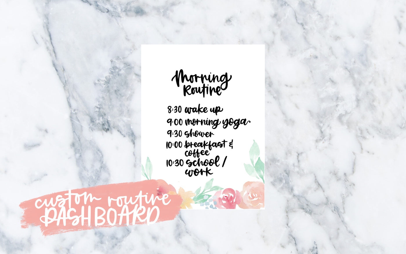 Custom Routine Dashboard (Floral) - Digital File