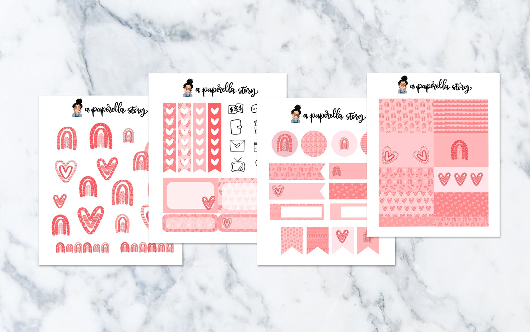 Love Rainbow Petite Sticker Kit