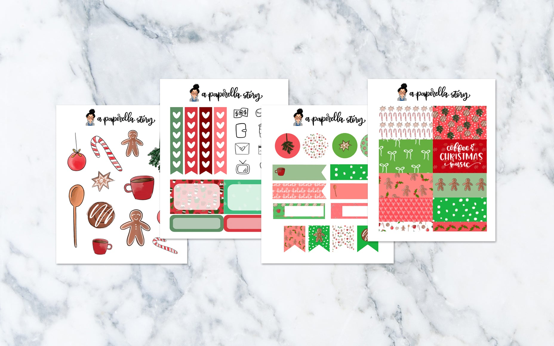 Merry Bakemas Petite Sticker Kit