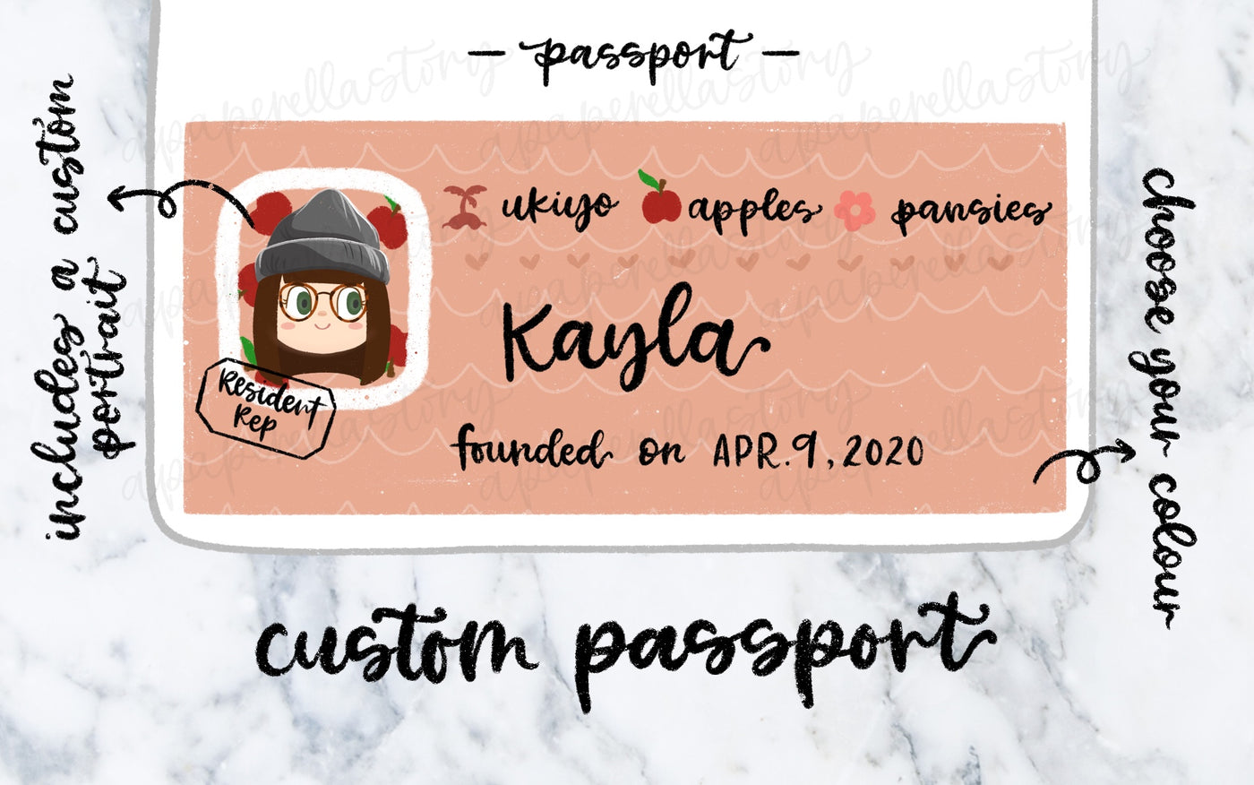 Custom Animal Crossing Inspired Passport - Digital File
