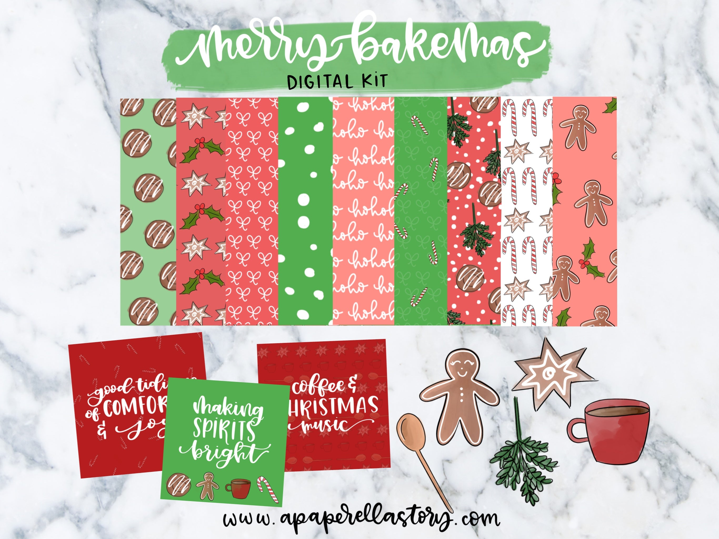 Merry Bakemas - Digital Kit