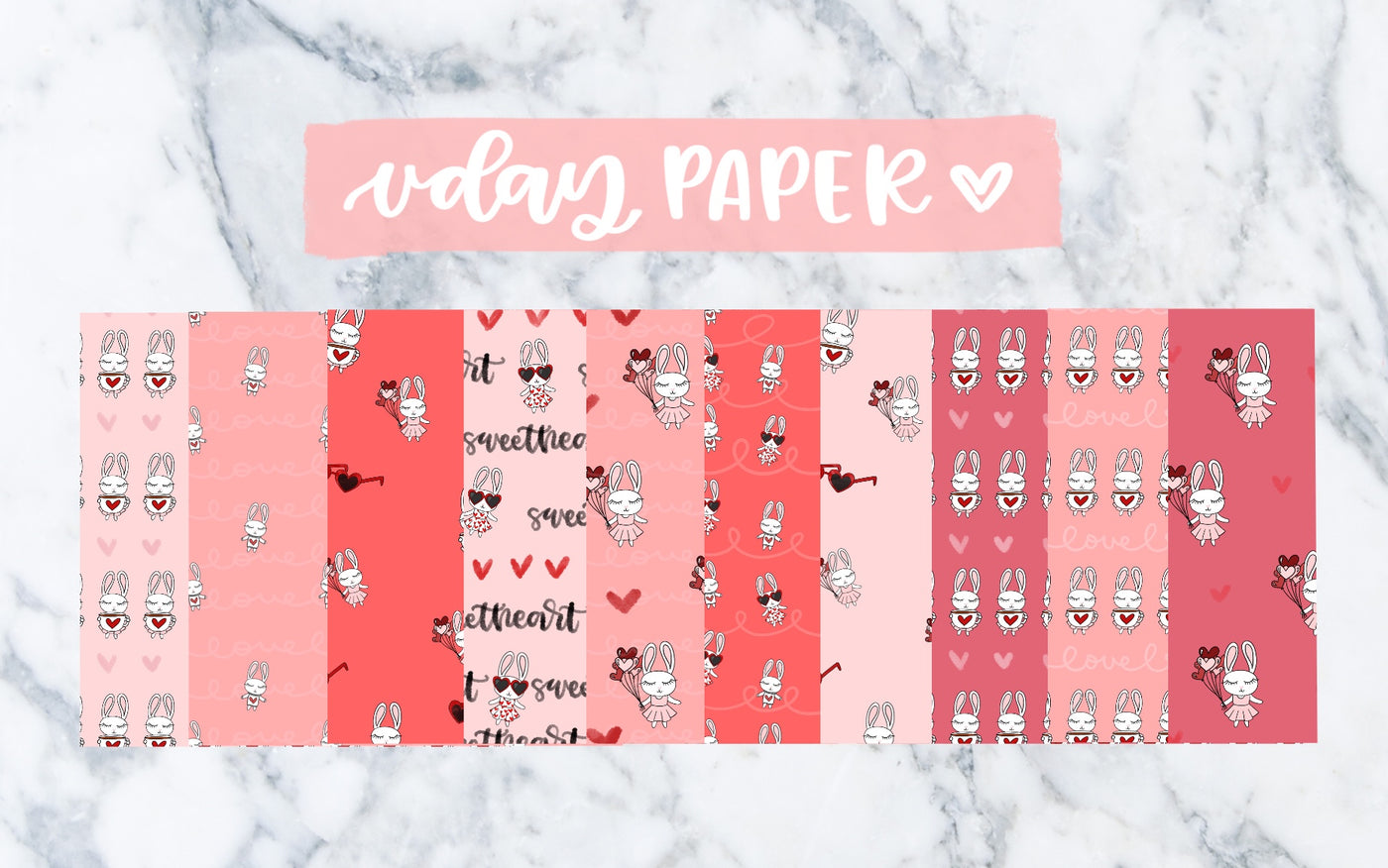 Lily Valentine's Day - Digital Paper Pack