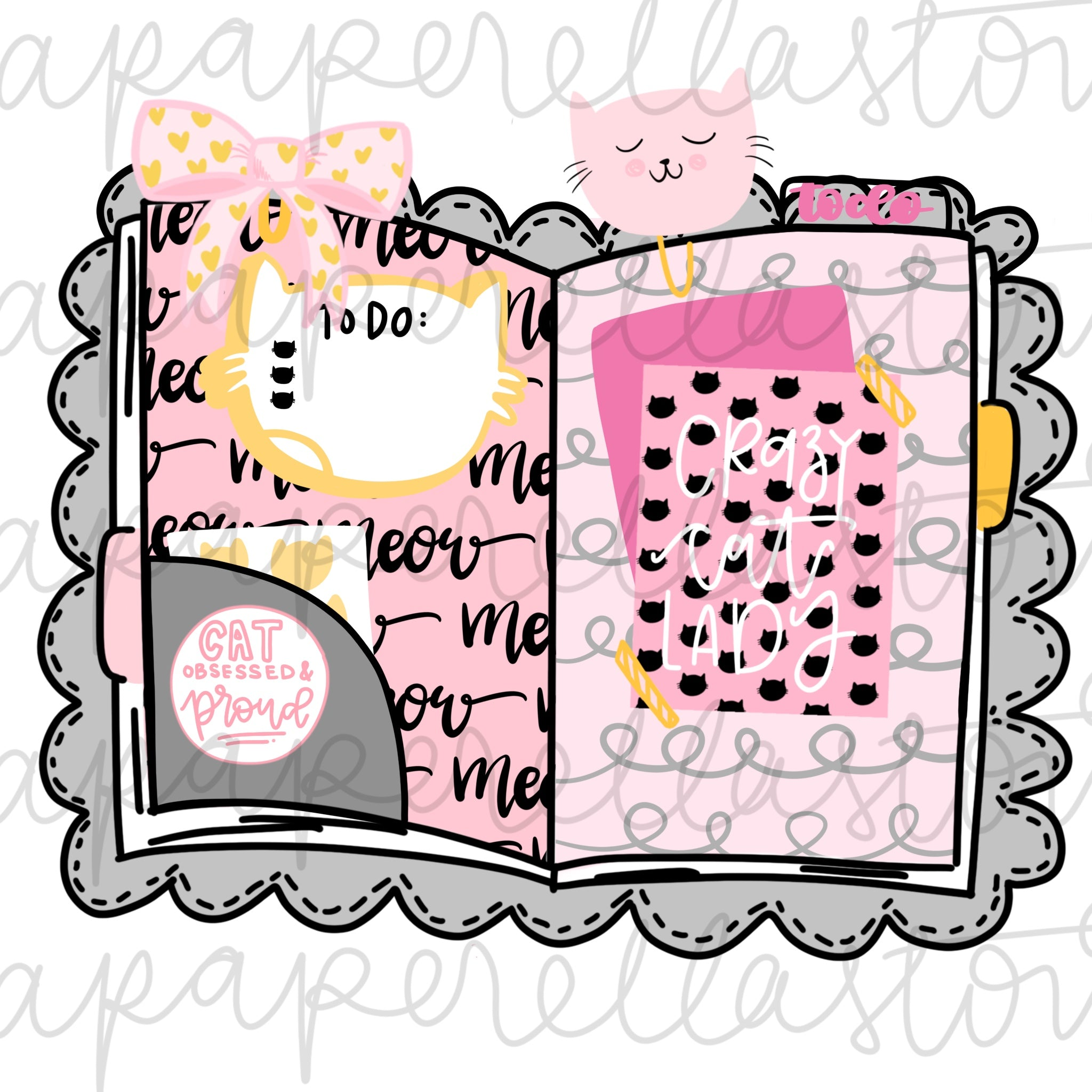 Crazy Cat Lady Traveler's Notebook - Digital File