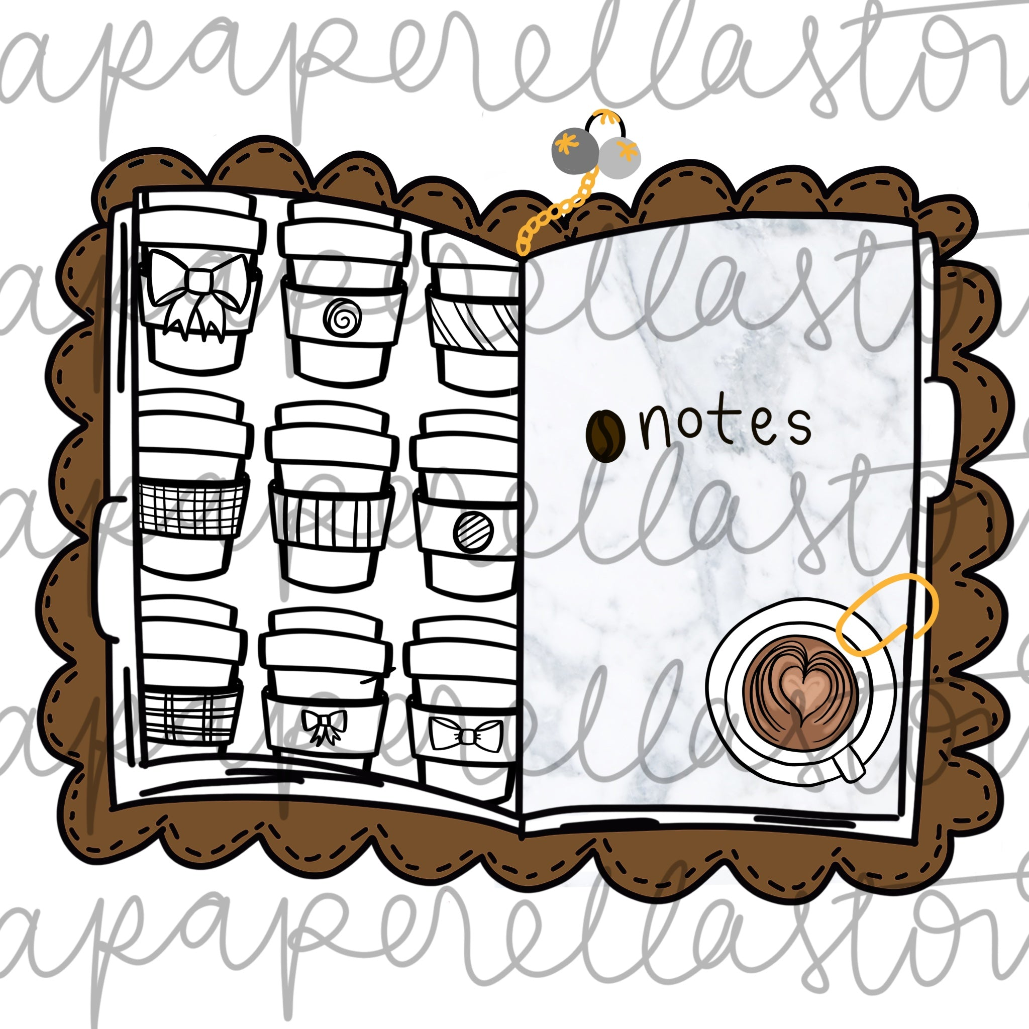 Coffee & Marble Traveler's Notebook - Digital File