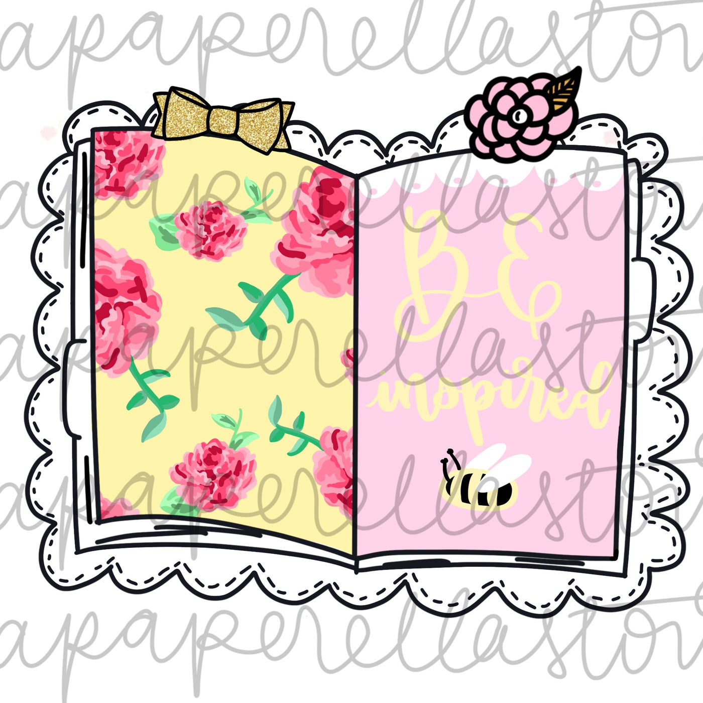 Floral Traveler's Notebook - Diecut
