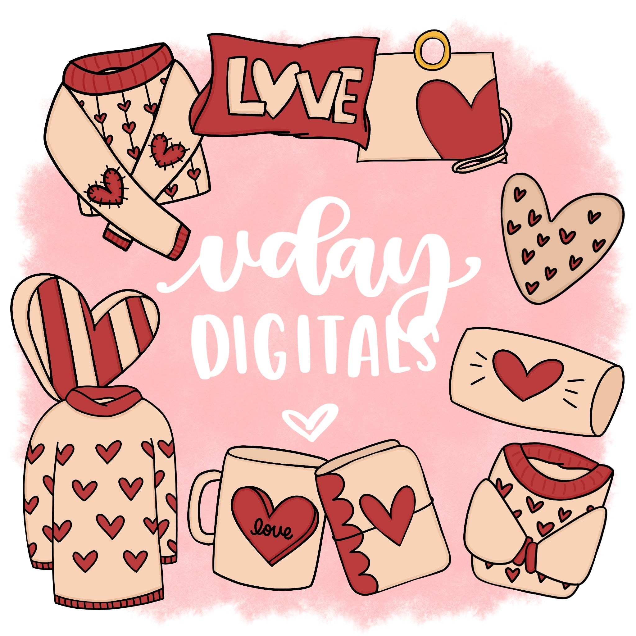 Valentine's Day Art - Digital Clipart