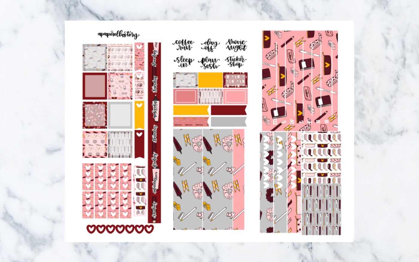 Back to School Hobonichi Weeks Stickers (REFORMAT)