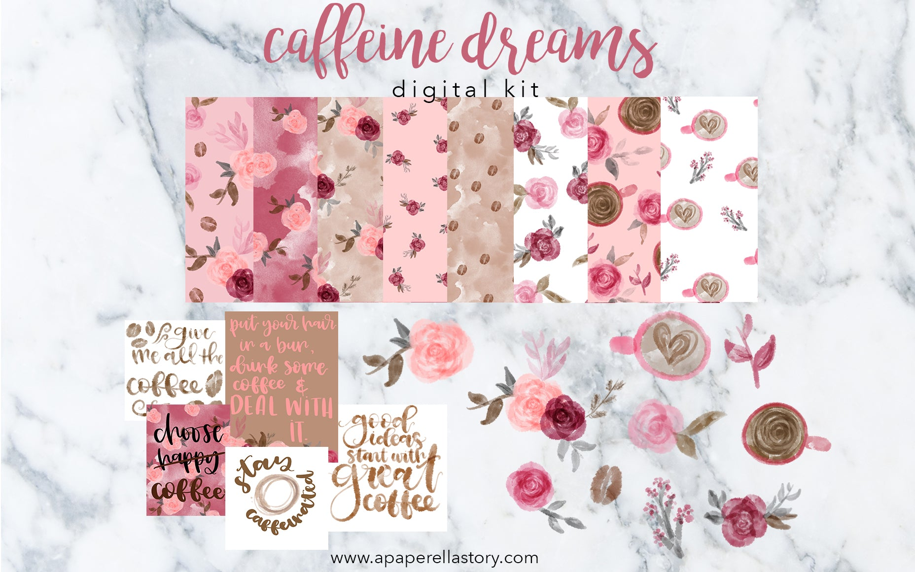 Caffeine Dreams - Digital Kit