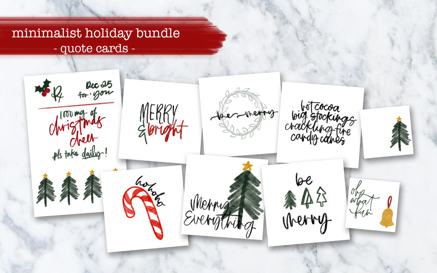 Minimalist Holiday Quote Cards - Limited Edition
