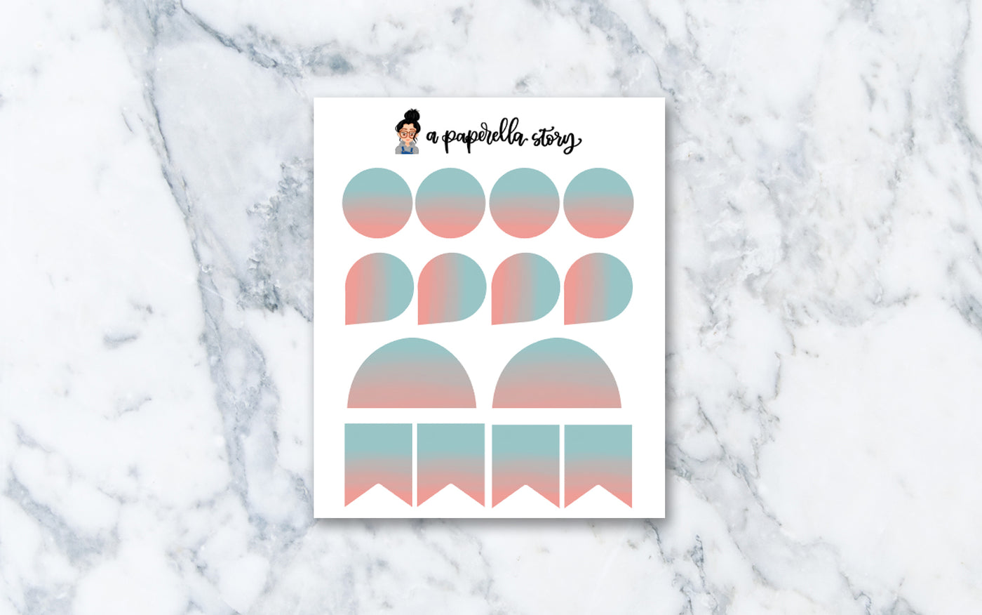 Cotton Candy - Functional Tie Dye Stickers