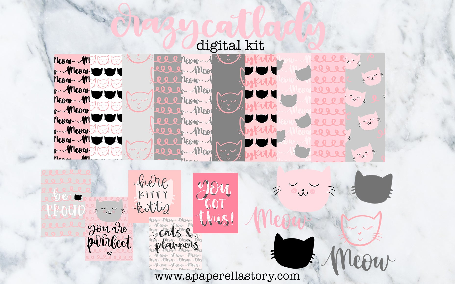 Crazy Cat Lady - Digital Kit