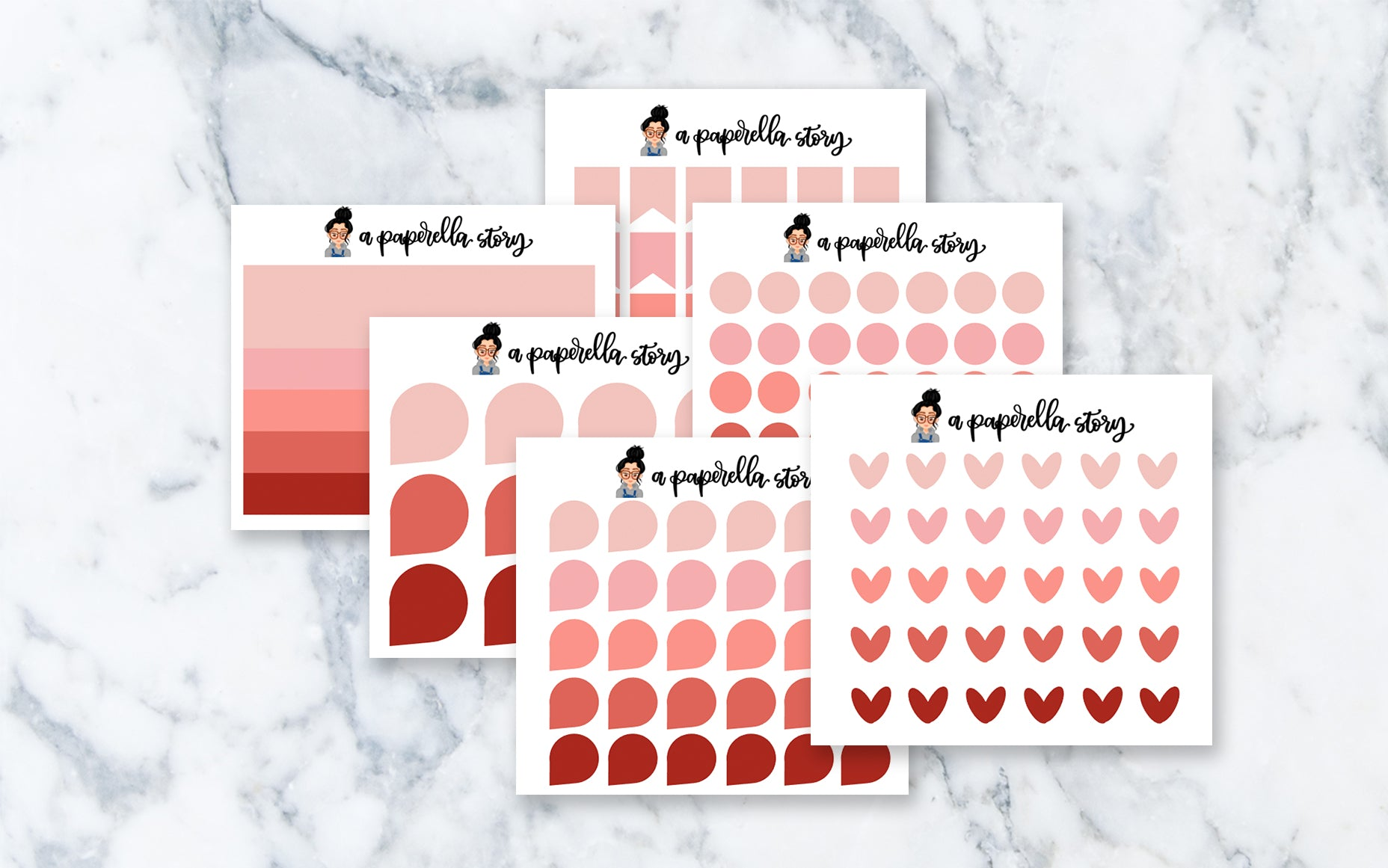 Cherry Functional Transparent Stickers