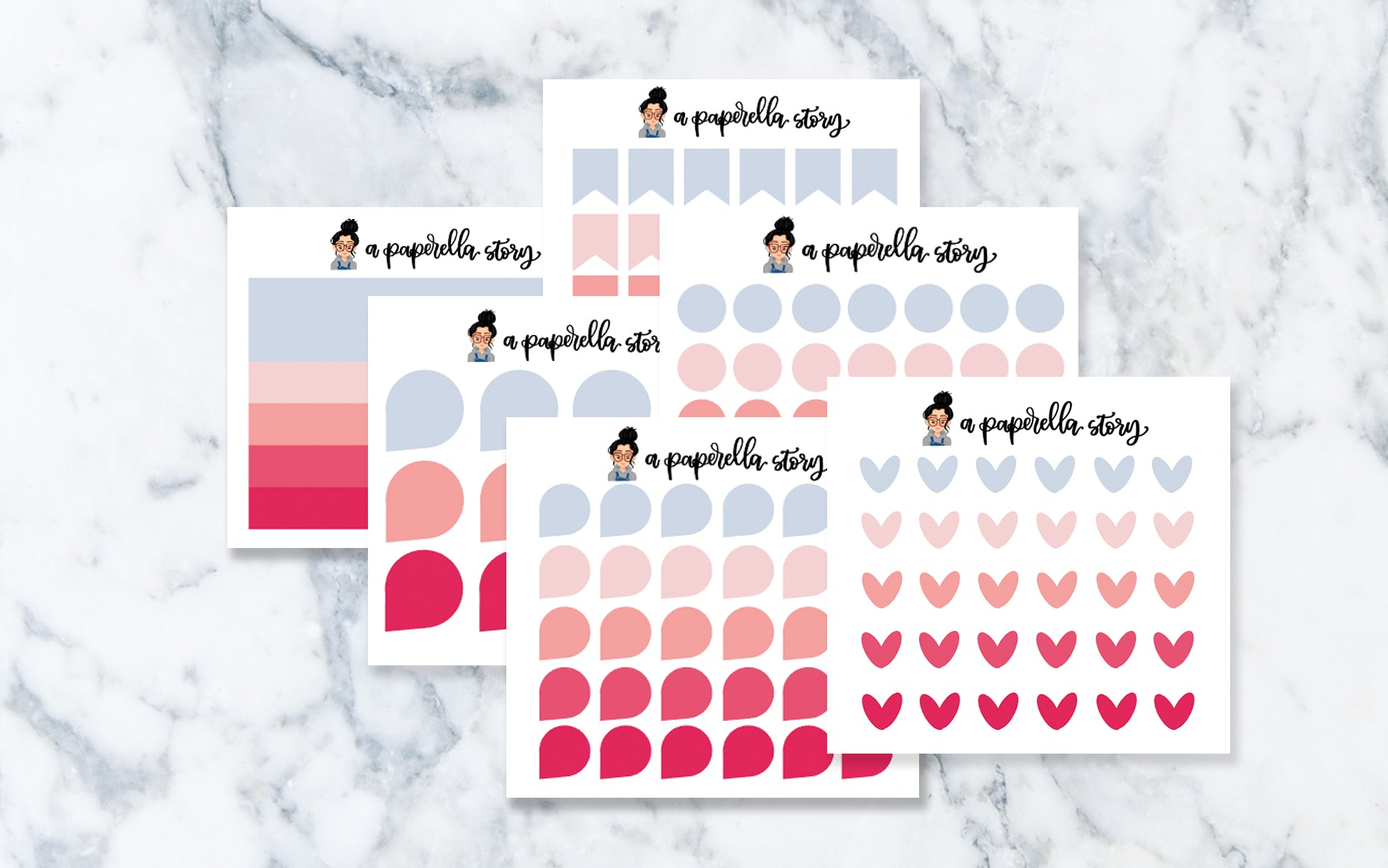 Cherry Blossom Functional Transparent Stickers