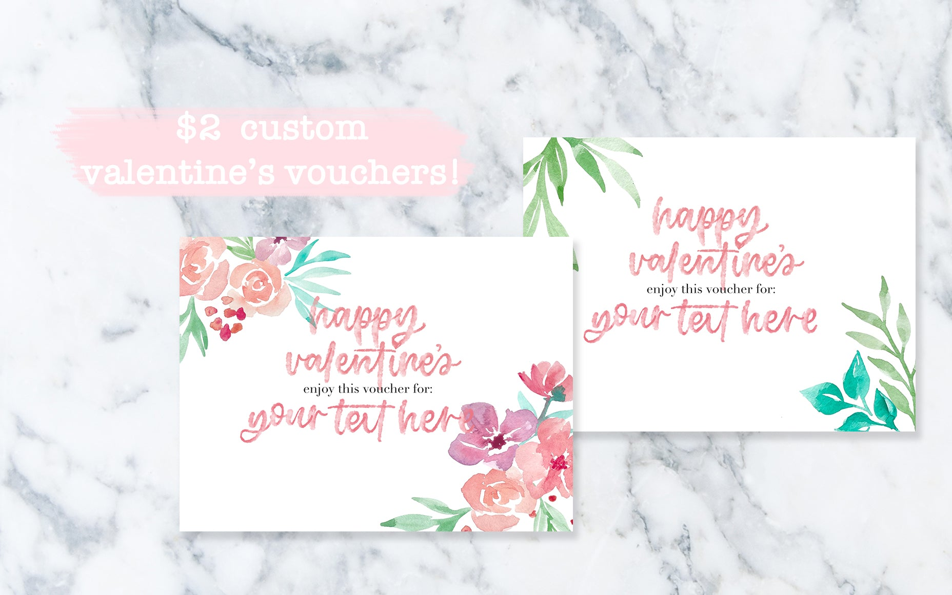 Custom Valentine's Vouchers - Digital File