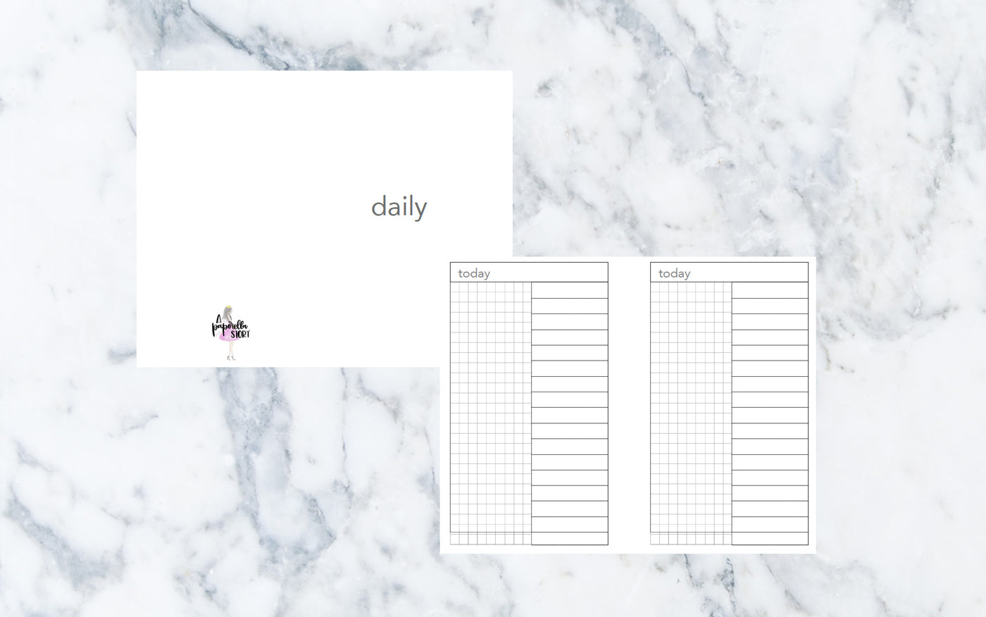 Day on 1 Page (Pocket TN) - Printable Inserts