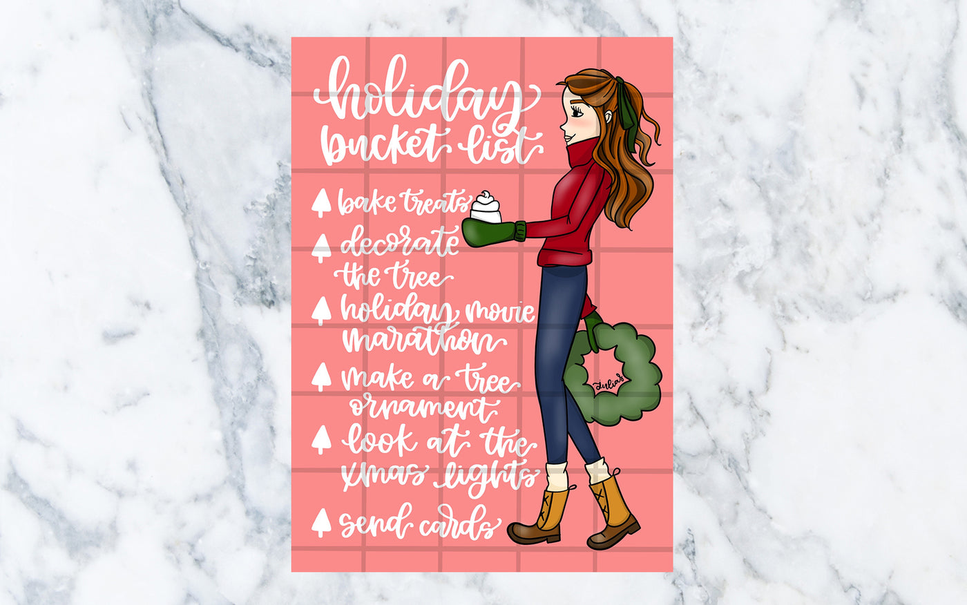 Holiday Bucket List (Red) - Digital File