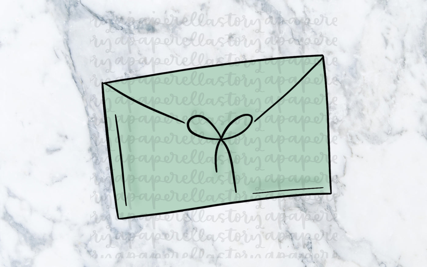 Mint Envelope Doodle - Digital File