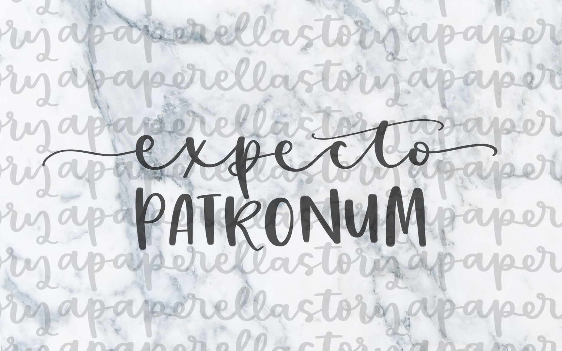 Expecto Patronum Lettering - Digital File
