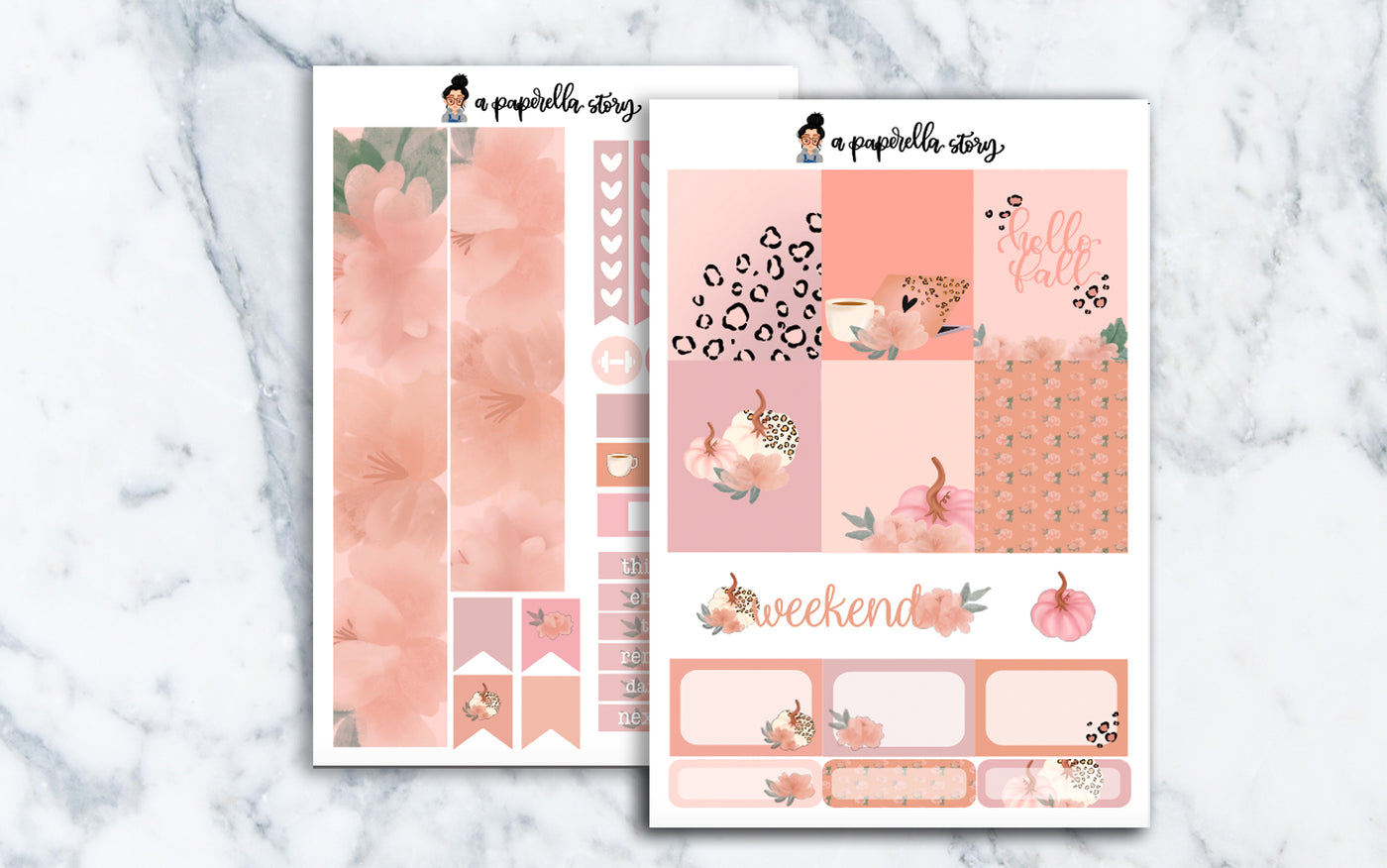 Glam Fall Mini Sticker Kit